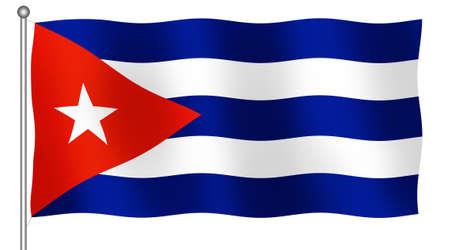 3D flag of Cuba Banco de Imagens