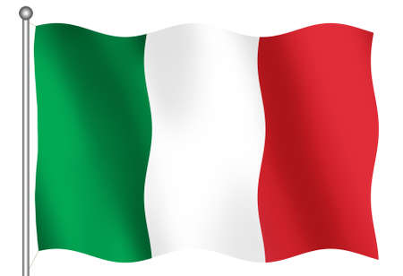 bandera italiana: 3D bandera italiana  Foto de archivo