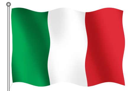 italian flag: 3D bandiera italiana