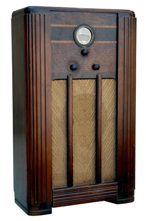 Isolated Vintage 1930s Philco radio