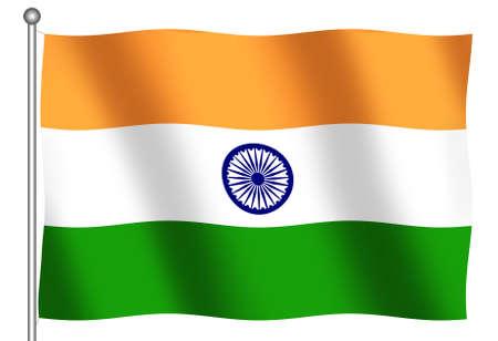 Flag of India waving photo
