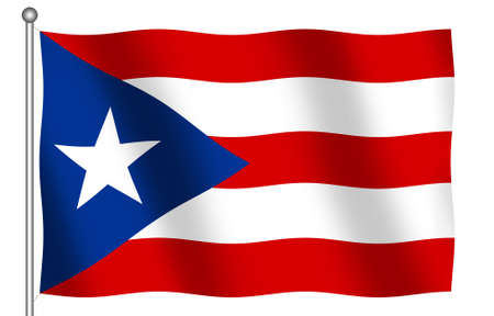 puerto rico: Puerto Rico Flag waving Stock Photo