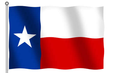 Flag of the State of Texas waving photo