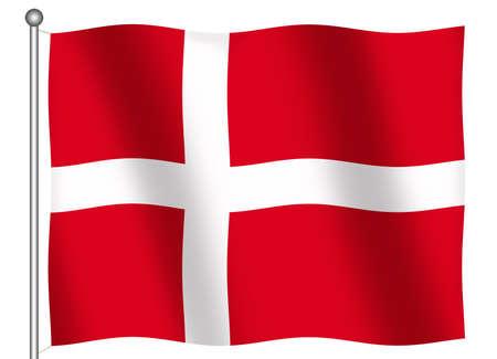 (とクリッピング パス) を振ってデンマークの旗