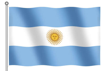 Flag of Argentina waving (With Clipping Path)