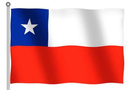 (とクリッピング パス) を振ってチリの旗