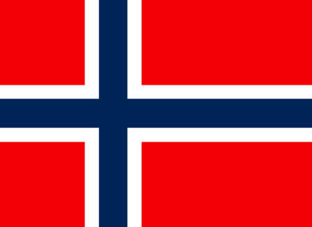 Flag of Norway Stok Fotoğraf
