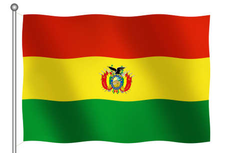 Flag of Bolivia Waving (With Clipping Path)