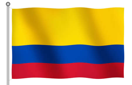 ethnical: Flag of Colombia Waving (With Clipping Path)