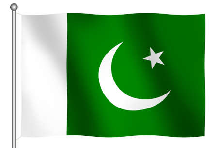 Flag of Pakistan Waving (With Clipping Path)