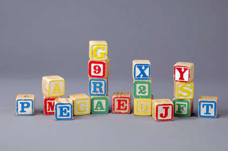 letter blocks: Childrens Letter blocks in a studio setting