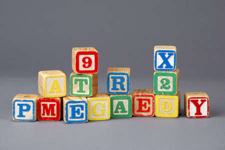letter blocks: Kids letter blocks of various colors