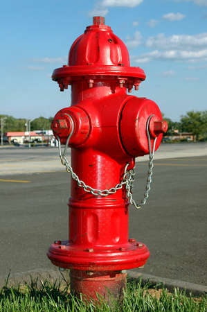 Fire hydrant with a suburban background. Stock Photo - 542297
