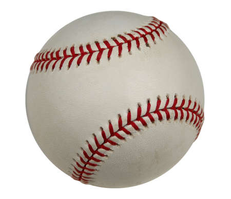 Baseball with clipping path (isolated) photo