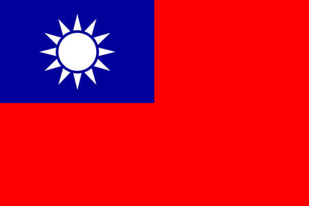 the flag: Flag of Taiwan