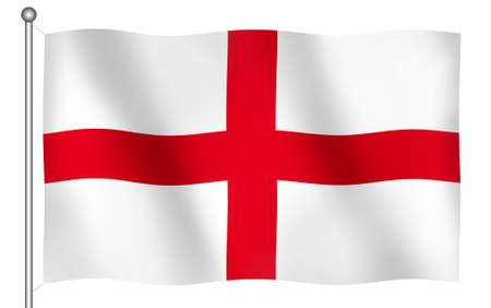 Flag of Englands Saint George Waving (With Clipping Path) photo