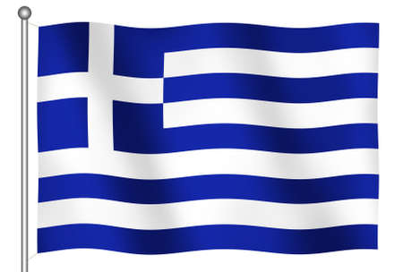balkan: Flag of Greece Waving (With Clipping Path)