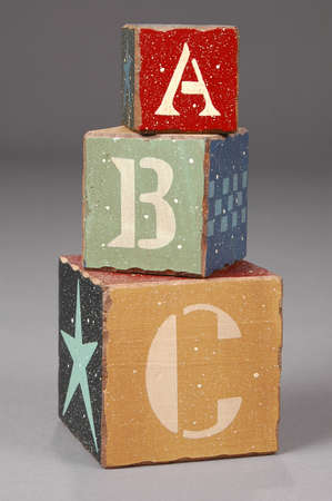 ABC letters on wooden blocks photo