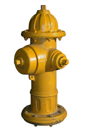 hydrant: Yellow Fire Hydrant (Isolated with Clipping Path)