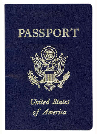 foreign nation: United States of America Passport (With Clipping Path)