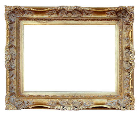 ornamentations: Vintage Frame over white background (With Clipping Path)