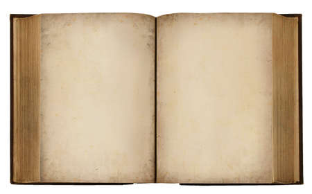Vintage grungy Book with blank pages Text (With Clipping Path) photo