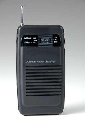 Pocket radio over neutral gradient background Stock fotó