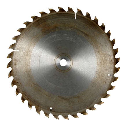 Circular saw blade isolated over white background (With Clipping Path)