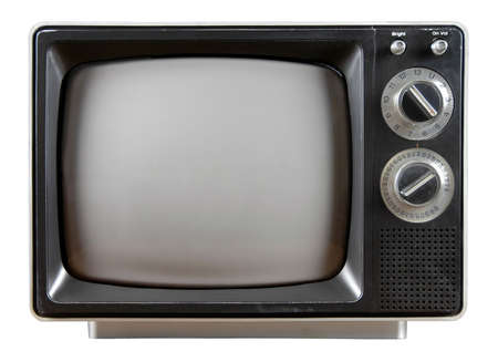 Vintage Television with knobs and buttons isolated over a white background. Stock Photo - 897595