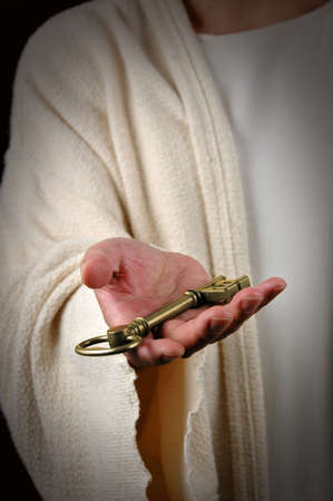 keys to heaven: Jesus offering the key to the Kingdom