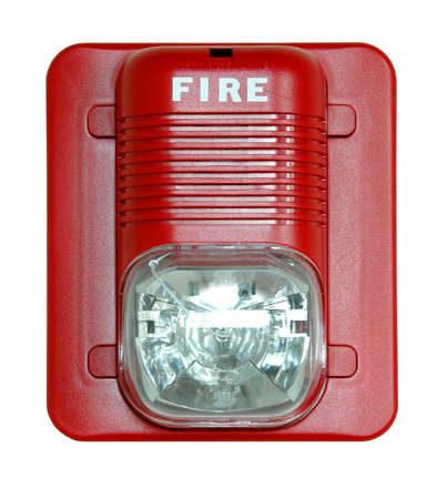 danger box: Fire alarm isolated over a white background. Stock Photo