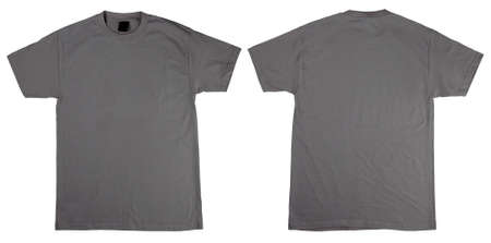 T-Shirts front and back. Simply plave your T-shirt design on top to get an idea of the final product. Both shirts include a Clipping Path Stock Photo - 897667