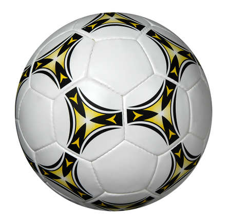 pelota de futbol: Aislados de balones de f�tbol en un fondo blanco
