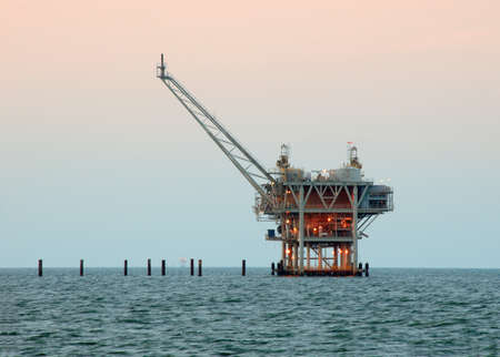 Drilling rig for oil and natural gas offshore photo