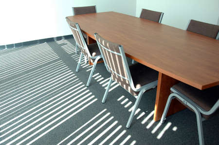 Boardroom with sunlight effect on floor Stock Photo - 1525398