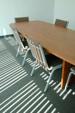 Boardroom with sunlight filtering through Stock Photo - 1525402