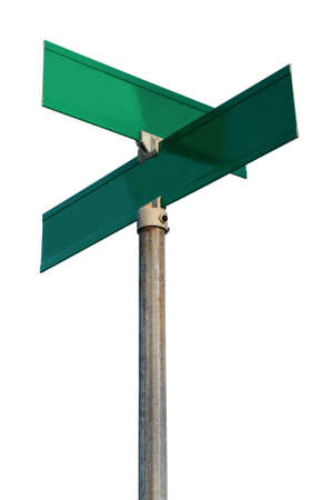 directional sign: Empty street signs - PLACE YOUR OWN WORDS!