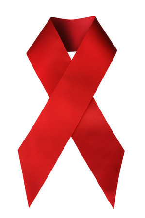 The Red Ribbon, the global symbol for solidarity with HIV positive and people living with AIDS photo