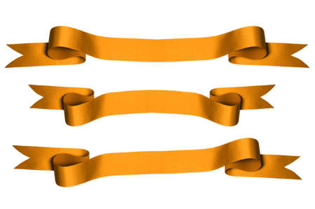 Gold ribbons with bank space for text - PHOTOGRAPH Stock Photo - 7751685