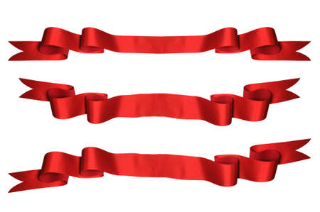 Red ribbons with bank space for text - PHOTOGRAPH Stock Photo - 7751232