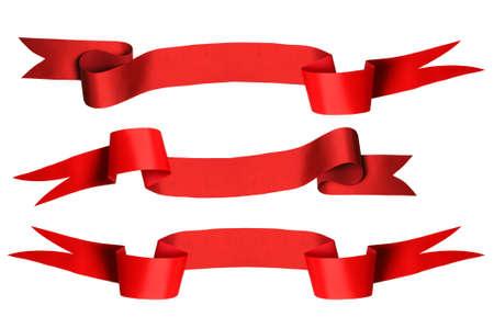 Red ribbon set of 3 - PHOTOGRAPH Stock Photo - 7751374