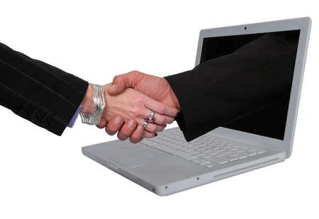 ecomerce: Business metaphor representing E-commerce agreements.