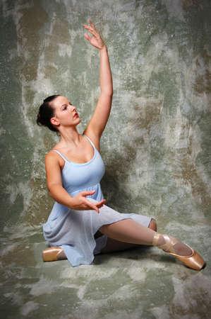 Beautiful ballerina performing on stage. Zdjęcie Seryjne