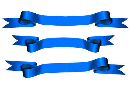 Blue ribbons with bank space for text - PHOTOGRAPH