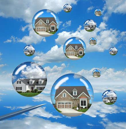 housing: Mercado de la vivienda preocupa que representa por casas de buble, a punto de estallar  Foto de archivo