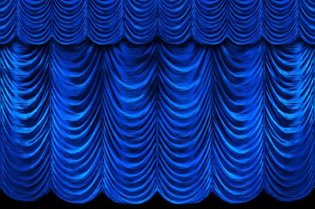 Stage blue curtains