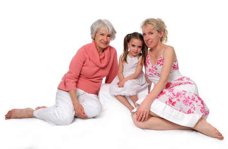 great grandmother: Madre, hija y nieta que representan tres generaciones  Foto de archivo