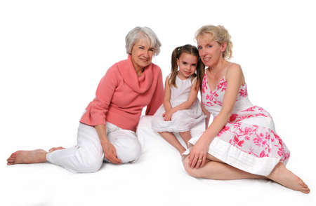 three generations: Mother, daughter and granddaughter representing three generations