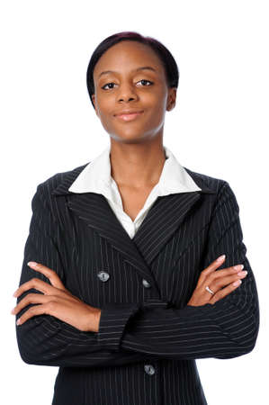Young confident African American business woman photo