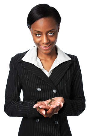 Young African American holding key Stock Photo - 7793978